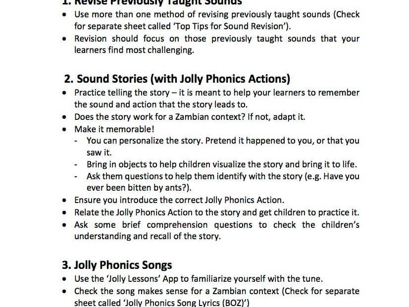 Tips for Teaching Letter Sounds