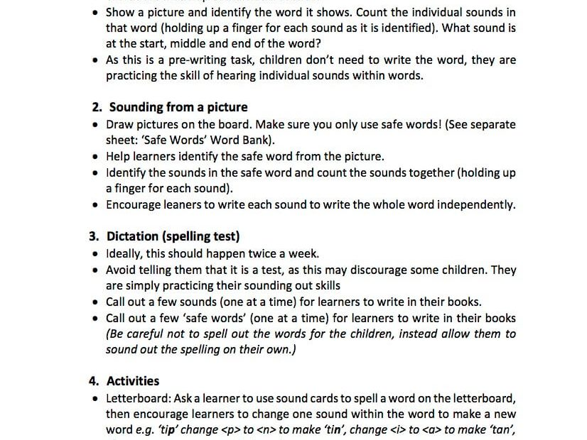 Tips for Teaching Sounding